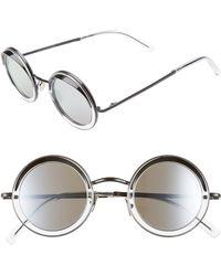 Cutler & Gross - 44mm Polarized Round Sunglasses - Lyst