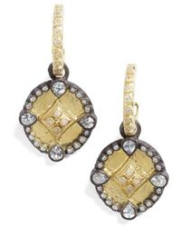 Armenta - Old World Shield Diamond Drop Earrings - Lyst