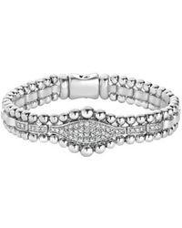 Lagos - Caviar Spark Diamond Marquise Link Bracelet - Lyst
