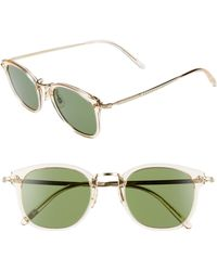 1255db14c114 Lyst - Oliver Peoples Ellice 50mm Round Sunglasses - in Green for Men