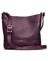 Shinola - Small Relaxed Leather Hobo Bag - Purple - Lyst