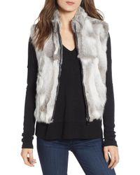 La Fiorentina - Genuine Rabbit Fur Vest - Lyst