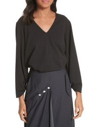 Tibi - Cinched Sleeve Top - Lyst