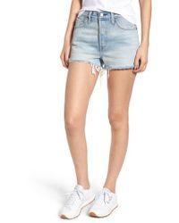 Levi's - Levi's 501 High Waist Denim Shorts - Lyst