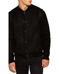 TOPMAN - Wool Blend Varsity Jacket - Lyst