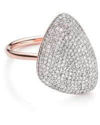 Monica Vinader | Nura Diamond Teardrop Ring | Lyst