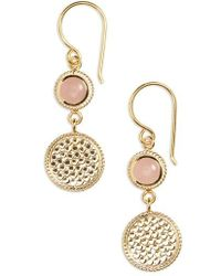 Anna Beck - Double Drop Stone Earrings - Lyst