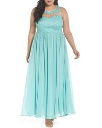 Decode 1.8 - Embellished A-line Chiffon Gown - Lyst