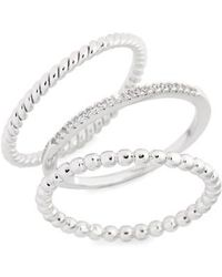 Melanie Auld - Balia Set Of 3 Stacking Rings - Lyst
