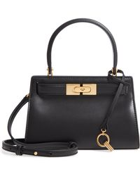 8ef3547e1d2a Lyst - Tory Burch Lee Radziwill Leather Bag in Black