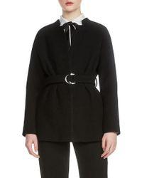 Maje - Gato Belted Jacket - Lyst