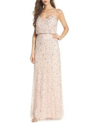Adrianna Papell - Sequin Blouson Gown - Lyst
