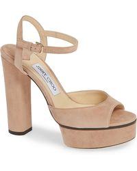 4b5383df77ba Lyst - Jimmy Choo Laurita Printed Leather Sandals