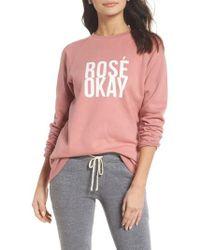 BRUNETTE the Label - Rose Okay Sweatshirt - Lyst
