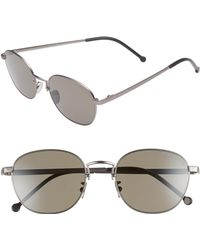 Cutler & Gross - 52mm Polarized Round Sunglasses - - Lyst