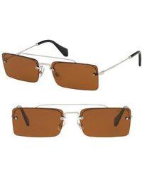 Miu Miu - Socit 58mm Square Sunglasses - - Lyst