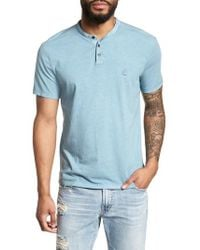 John Varvatos - Sublime Short Sleeve Henley - Lyst