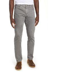 AG Jeans - Everett Straight Leg Corduroy Pants - Lyst