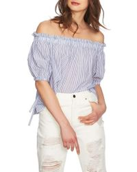 1.STATE - Ruffle Off The Shoulder Blouse - Lyst