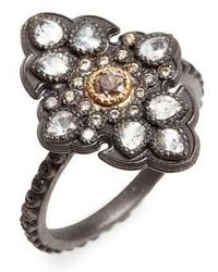 Armenta - Old World Diamond Pave Scroll Ring - Lyst