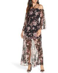 Ali & Jay - Forever Floral Cold Shoulder Maxi Dress - Lyst