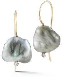 Mizuki - Pearl & Diamond Drop Earrings - Lyst