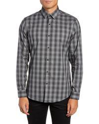 Calibrate - Mini Collar Nep Plaid Sport Shirt - Lyst
