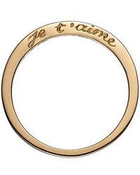 Nora Kogan - Je T'aime Side Script Stackable Ring - Lyst