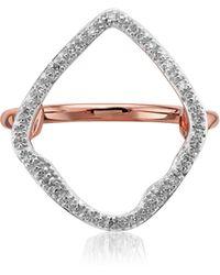Monica Vinader - Riva Hoop Diamond Ring - Lyst