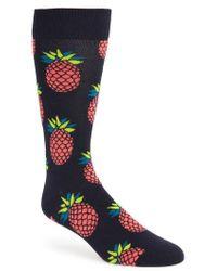 Happy Socks - Pineapple Crew Socks - Lyst