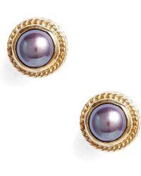 Anna Beck - Genuine Blue Pearl Stud Earrings - Lyst