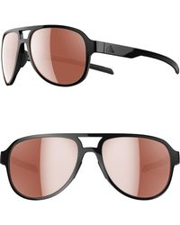 7578f147ef adidas - Pacyr Lst 58mm Navigator Sport Sunglasses - Shiny Black  Active  Silver - Lyst