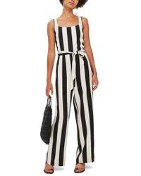 TOPSHOP - Humbug Striped Jumpsuit - Lyst