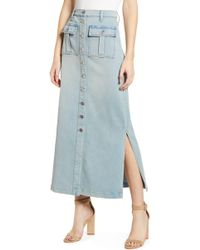 366530cd3 Current/Elliott Sally Button-front Denim Skirt in Blue - Lyst