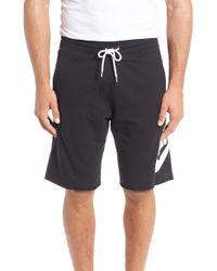 Nike - 'nsw' Logo French Terry Shorts - Lyst