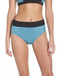 Zella - Element High Waist Bikini Bottoms - Lyst