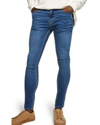 TOPMAN - Skinny Fit Spray-on Jeans - Lyst