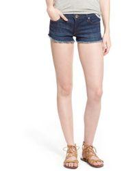 True Religion | Joey Flap Pocket Cutoff Denim Shorts | Lyst