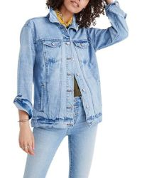 Madewell - Distressed Oversize Jean Jacket - Lyst