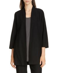 Eileen Fisher - Collarless Long Jacket - Lyst