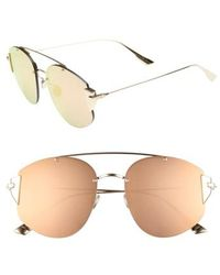 20e7416a466 Dior - Christian Stronger 58mm Rounded Aviator Sunglasses - - Lyst