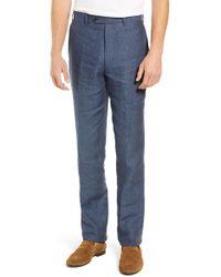 e4d448d78a0ac John W. Nordstrom - John W. Nordstrom Torino Flat Front Solid Linen Trousers  -