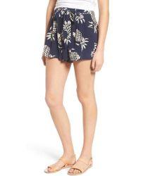 Rails - Gigi Print Silk Shorts - Lyst