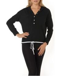 The White Company - Contrast Cashmere Hoodie - Lyst