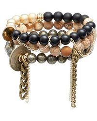 THE LACE PROJECT - Set Of 3 Bead Stretch Bracelets - Lyst