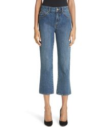 Co. - Essentials Crop Flare Jeans - Lyst