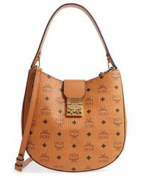 MCM - Patricia Visetos Coated Canvas Hobo - - Lyst