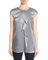 St. John | Liquid Satin Top | Lyst