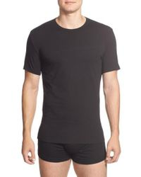 Calvin Klein - 2-pack Stretch Cotton Crewneck T-shirt, Black - Lyst