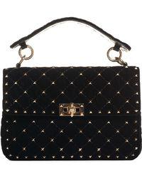 Valentino - Rockstud Quilted Leather Shoulder Bag - Lyst